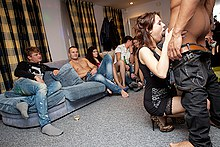 Adult party movie from a student bash