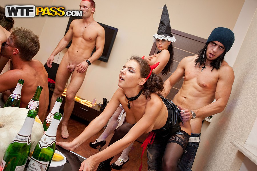 sex at halloween party