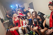Halloween college fuck party video