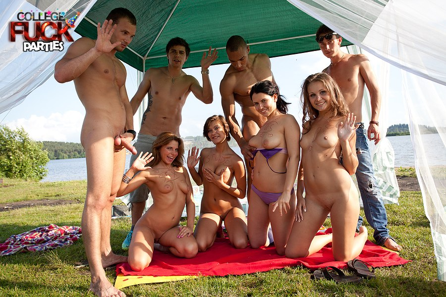 Beach orgy college