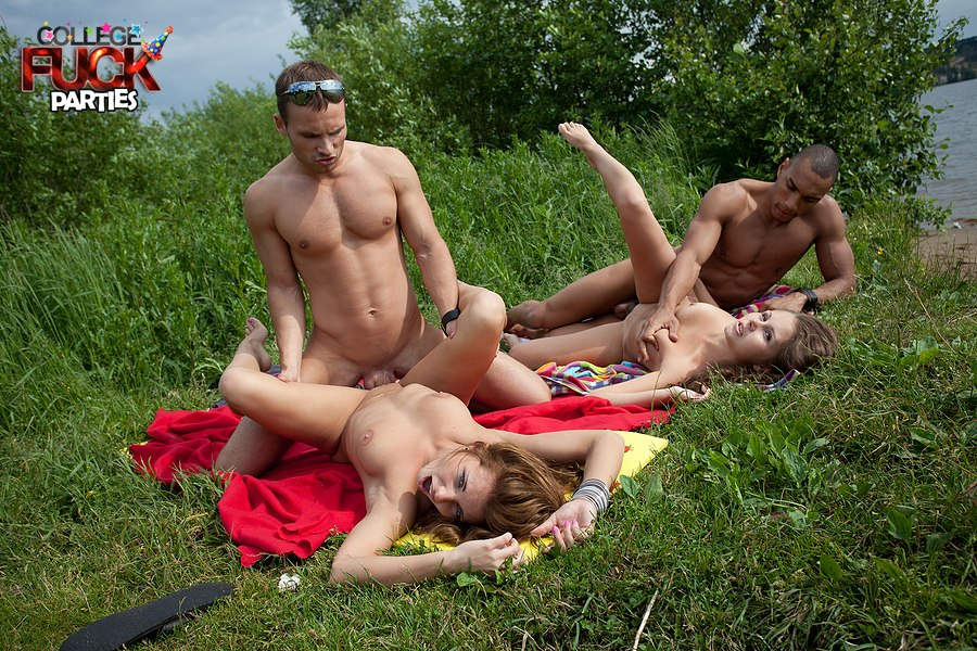College beach orgy