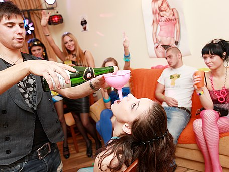 Wild girls fuck at sex party