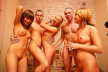 Deep group pounding of hot student girls