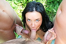 The raunchy college student fucking outdoor
