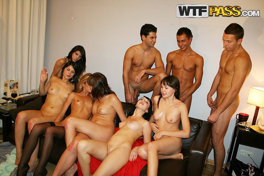Extremely hot group orgy with horny coeds - Watch free porn movie