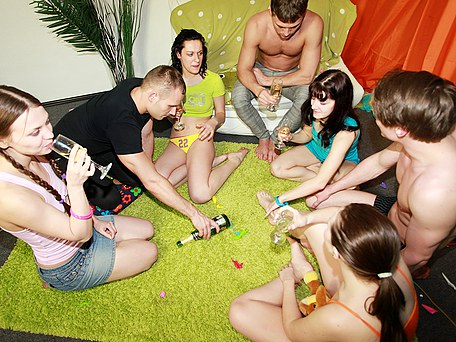 Fun party followed by college orgy