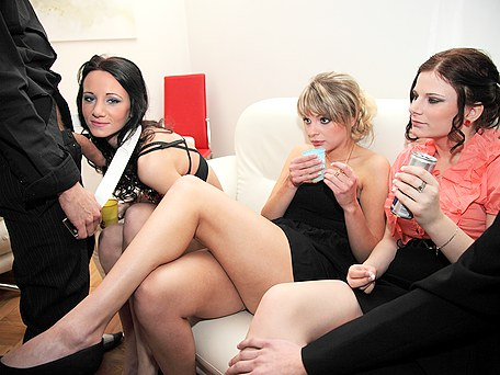 Crazy chicks fuck at B-day party