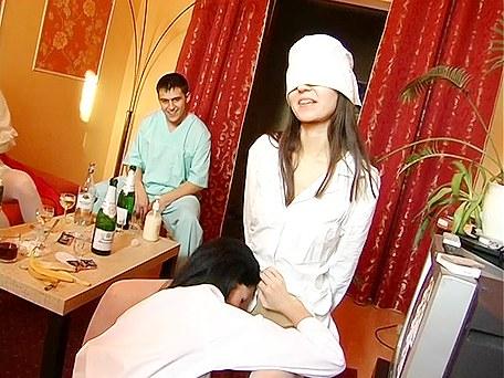 Hardcore orgy sex movie with hot nurse babes