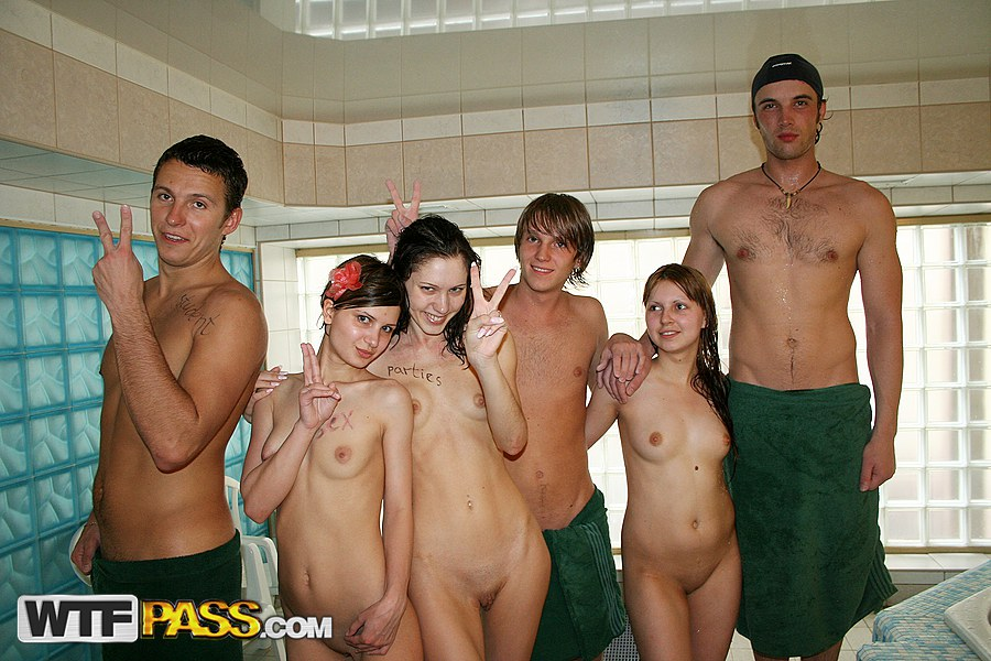 college pool party porn