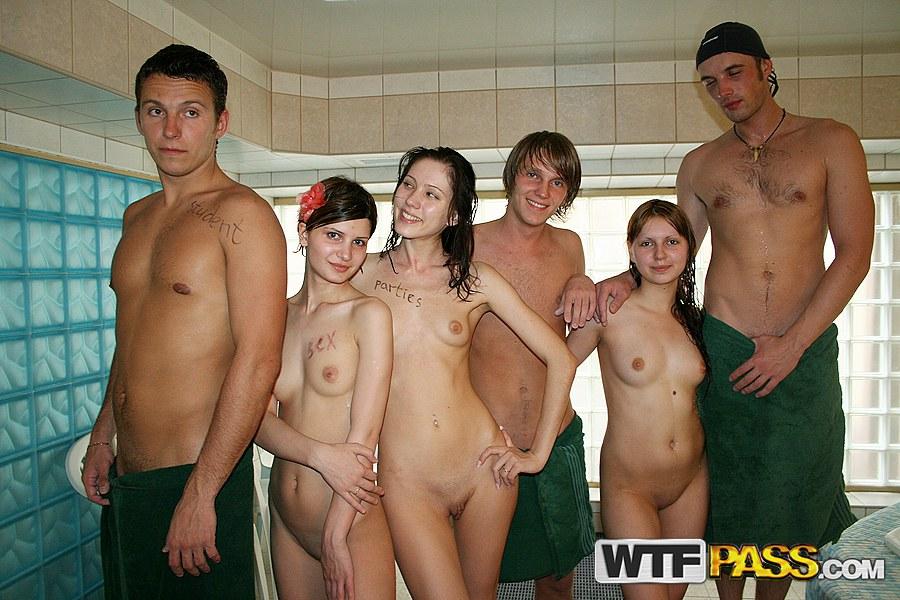 hot orgy in communal shower