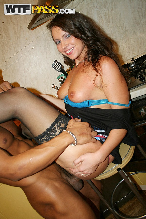 College drunk brunette fucked party
