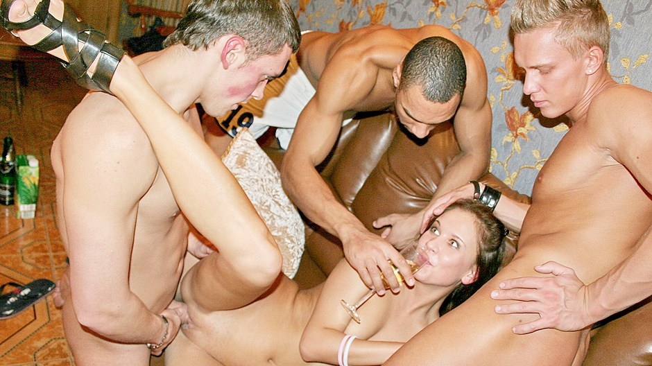 Drunk student sex party with really hot girls