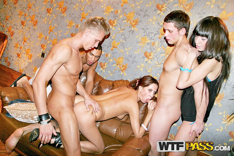 White wife pounded by 2 negros 2