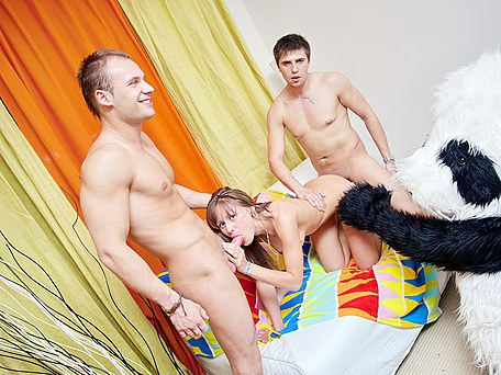 Hot student sex party with exiting college girls