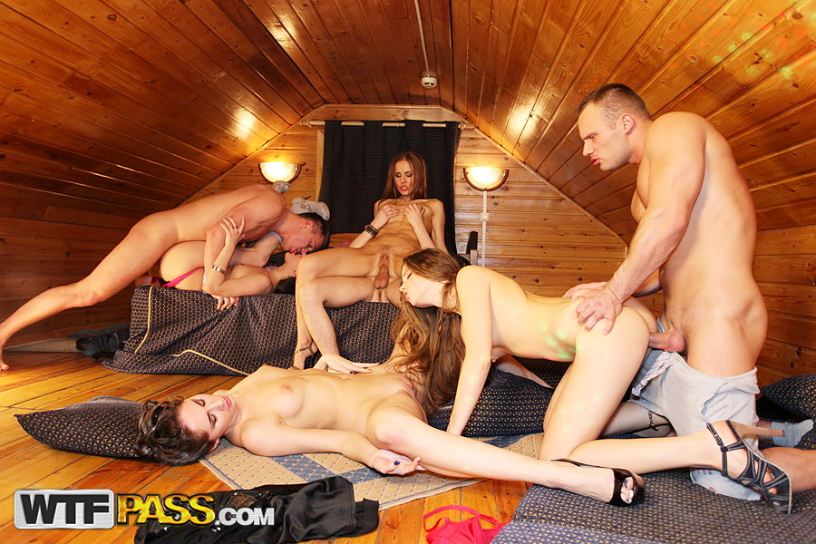 Awesome college orgy with incredibly hot horny bimbos