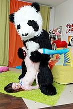 Hot fun fucking with panda bar
