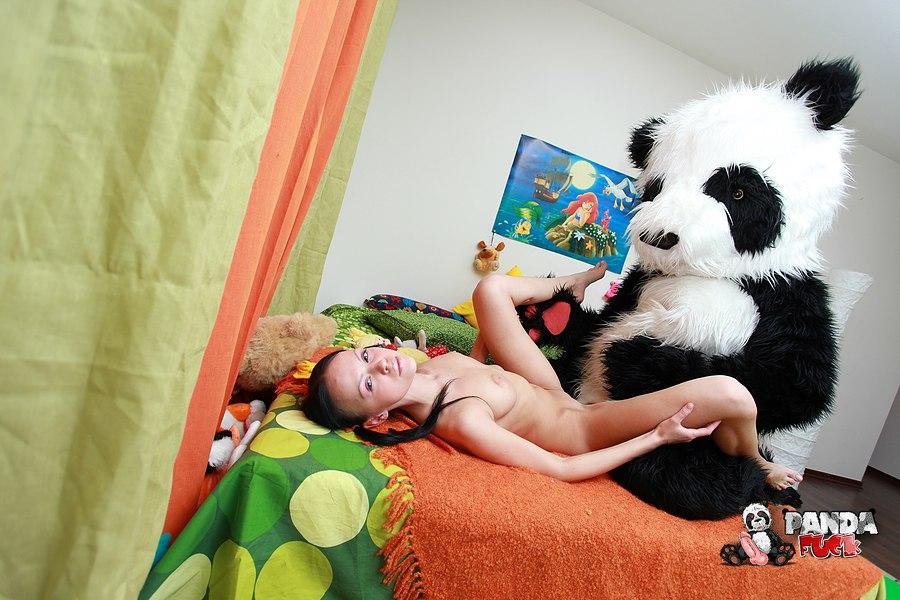 Girl Fucks A Panda