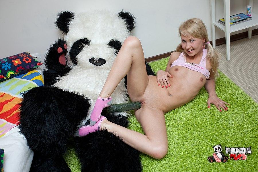 Panda bear fucks sexy teen in different positions 5