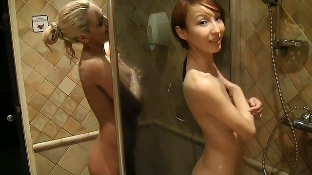 Pickup fuck onanism hot blonde and asian