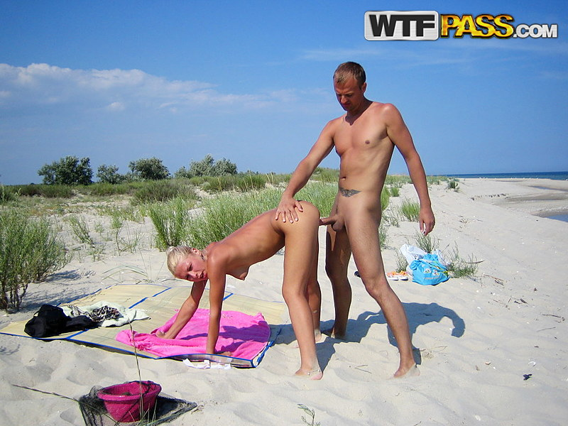Horny couple getting hardcore fuck on a public beach adult gallery PrivateSexTapes.com